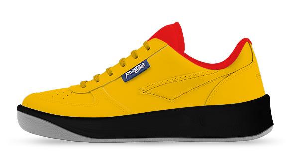 žlutá / červená / černá